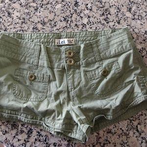 Olive green khaki short shorts size 7